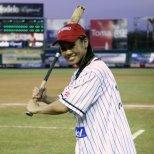 Getting ready to bat at Leones de Yucatan field