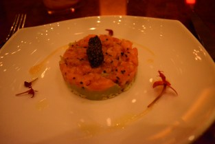 American Caviar and Smoked Salmon Parfait