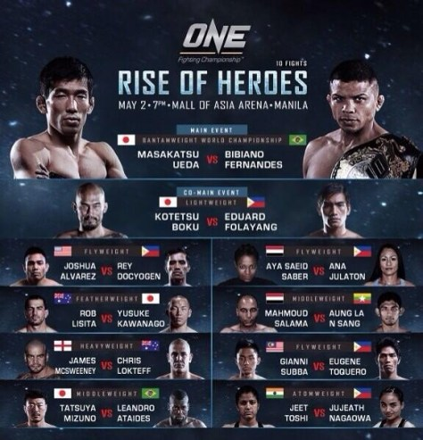 ONE FC RISE OF HEROES