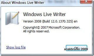 About Windows Live Writer 1922009 84111 PM