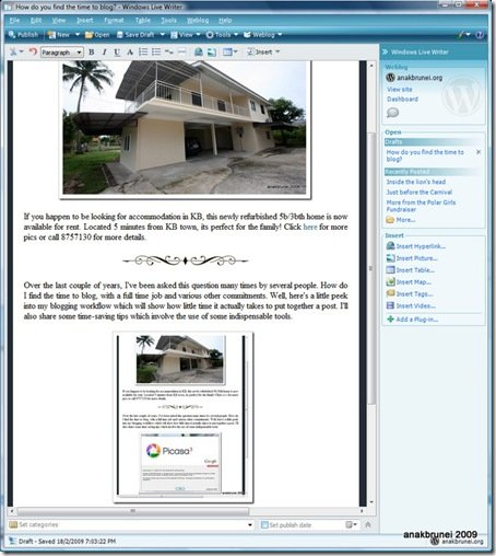 How do you find the time to blog - Windows Live Writer 1922009 84304 PM