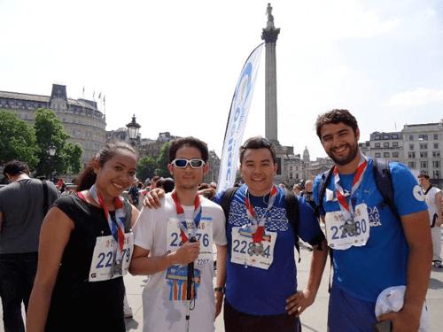 (L – R) Ruth Garnet Maran, Nor Alizulrainee Ali Yusop, Abdul Matiin Kasim and Francisco Borquez Electorat after finishing the race