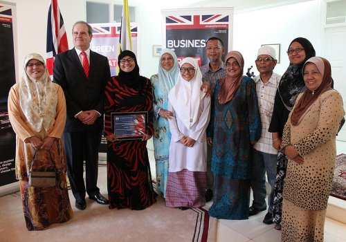 Receiving my Chevening award at the British High Commissioner's Residence with Datin Adina & David Campbell