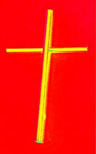 Cardboard Cross Andy Warhol