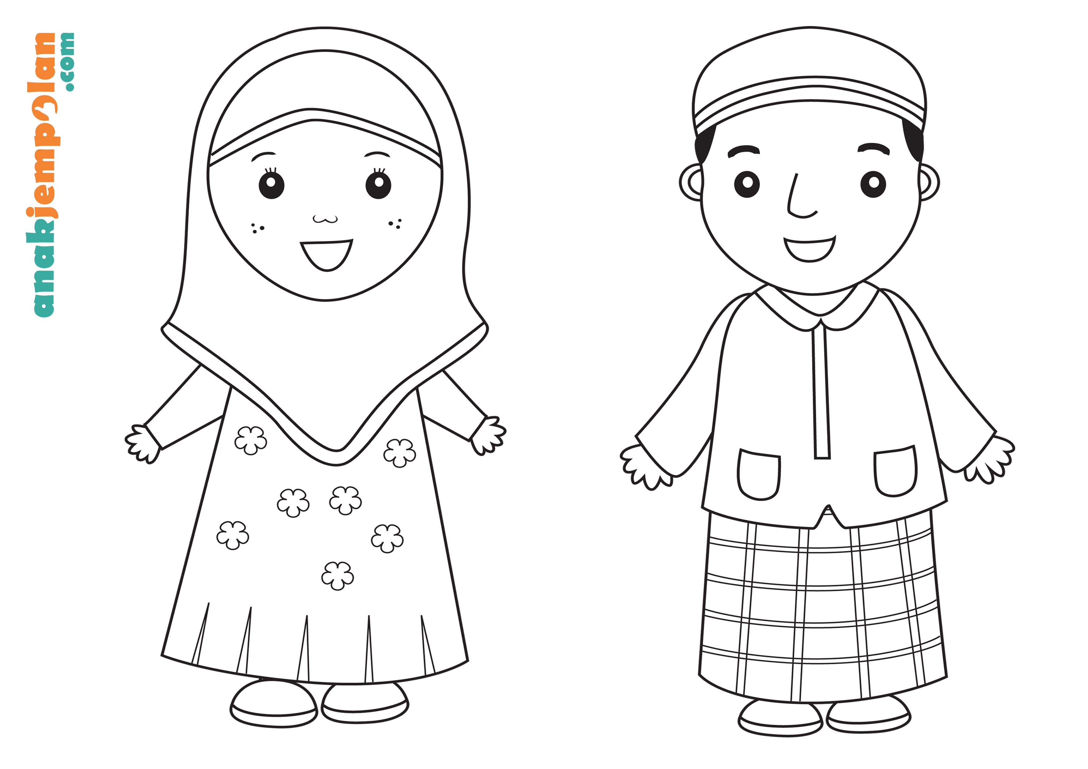 Gambar Mewarnai Anak Muslim Dan Muslimah Mewarnai Cerita Terbaru Lucu Sedih Humor Kocak Romantis