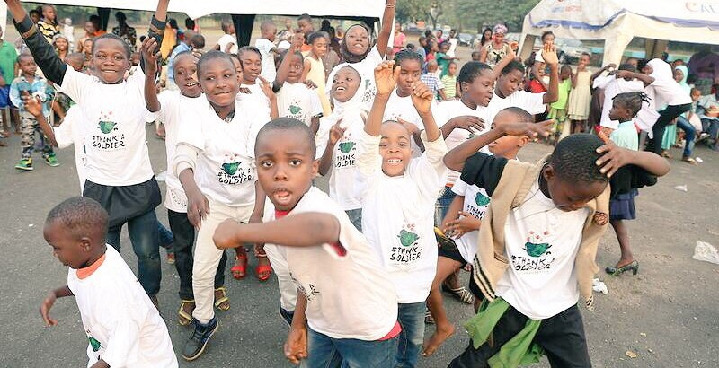 Children dancing at the Anakle #ThankASoldier party for military families in Lagos