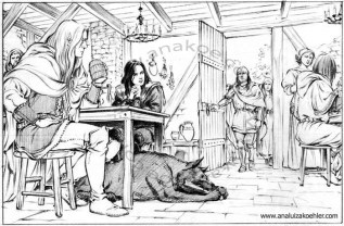 Book illustration for Midgard-Online Editions (FM05)