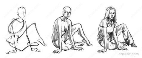 Pose construction based on skeleton sketch (07).