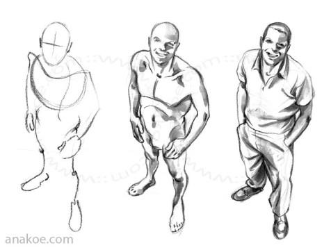 Pose construction based on skeleton sketch (01).