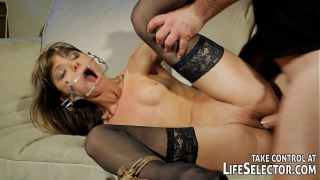 Kinky fuckdoll Doris Ivy is being dominated by a pervert guy.