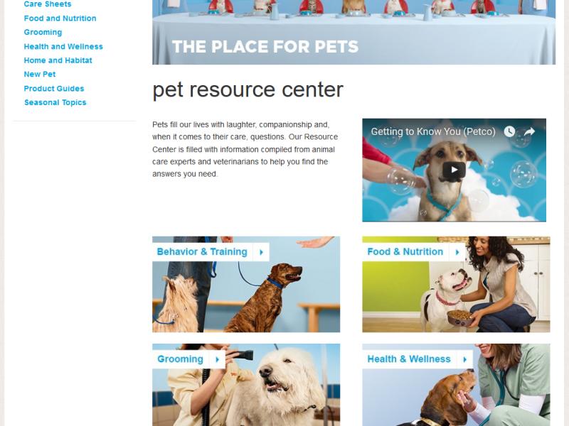 Petco.com Resource Center