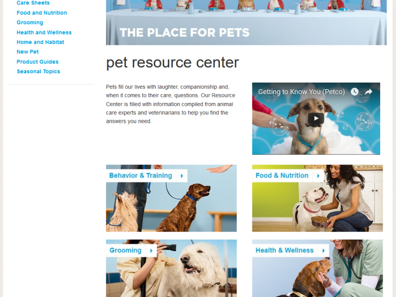 Petco.com Resource Center