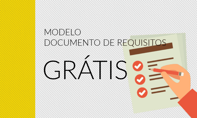 Modelo grátis para download do documento de requisitos.