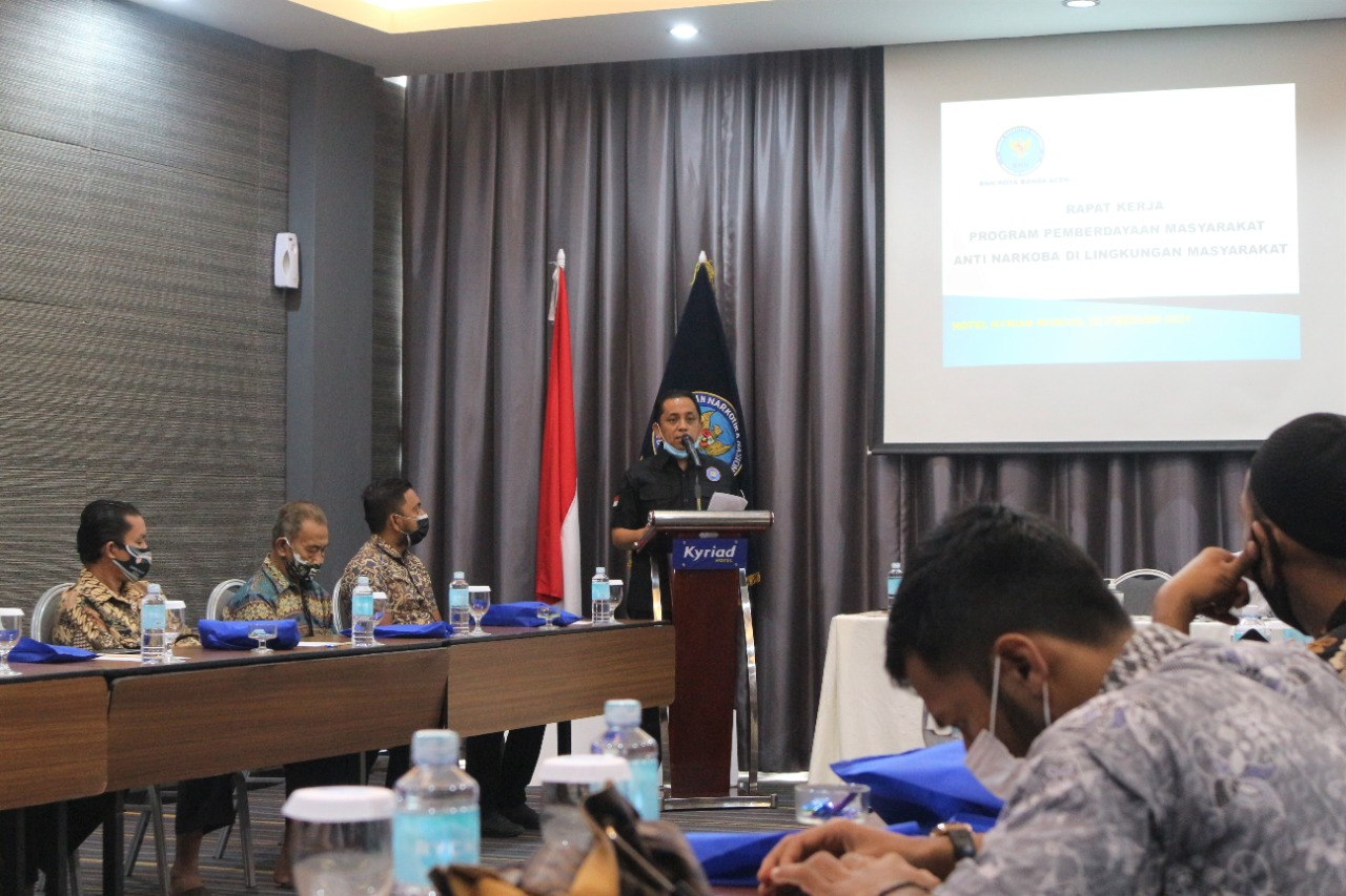 BNN Kota Banda Aceh Gelar Raker Bersama Aparatur Gampong