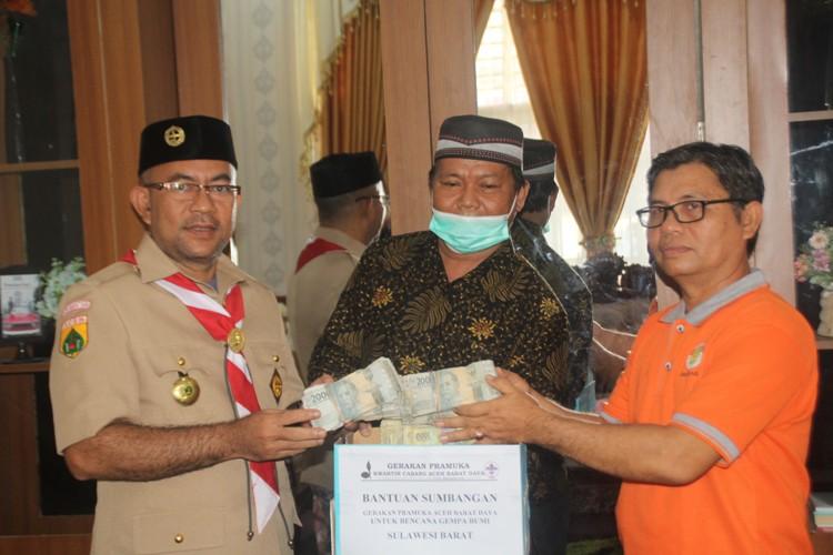 Bantu Korban Bencana Sulbar, Pramuka Abdya Donasikan Rp.55,3 Juta