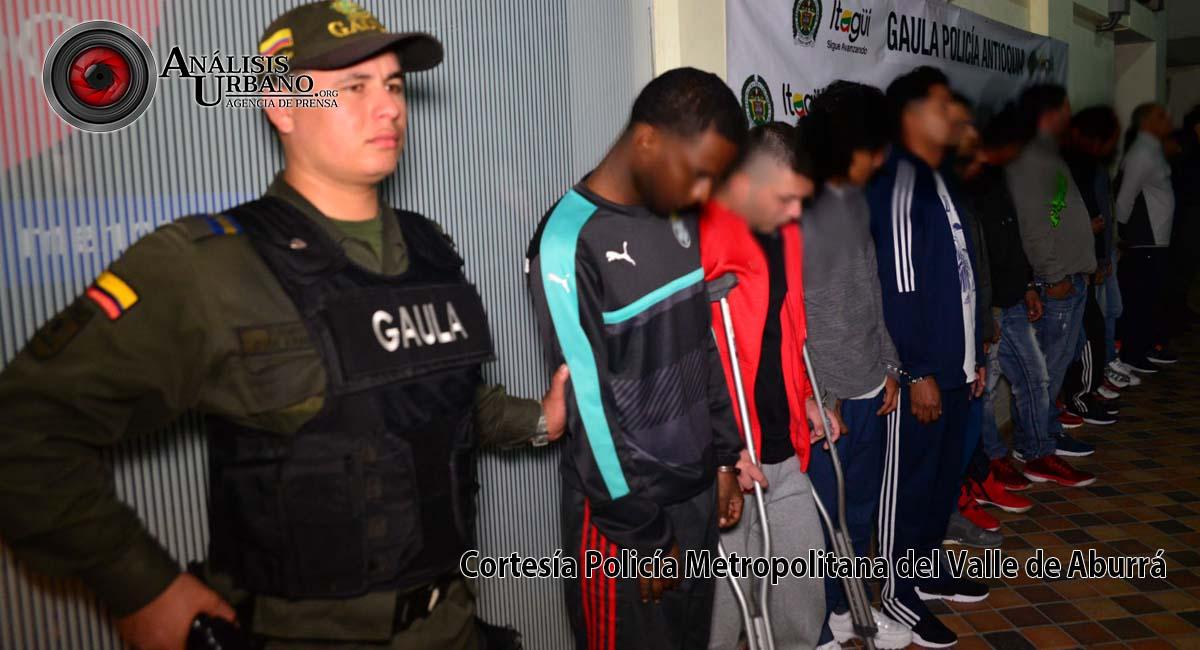Gaula capturó a 13 de San Rafael, banda dedicada a la extorsión, narcotráfico y homicidio en Itagüí