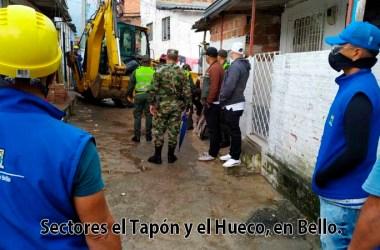 Derriban 25 edificaciones en el Tapón y el Hueco, en Bello