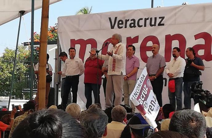 """LA ALIANZA """"JUNTOS HAREMOS HISTORIA"""" CONSOLIDA EL TRIUNFO EN VERACRUZ: AMLO"""