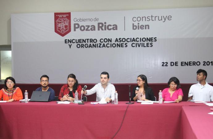 Se coordina Ayuntamiento con grupos de la sociedad civil