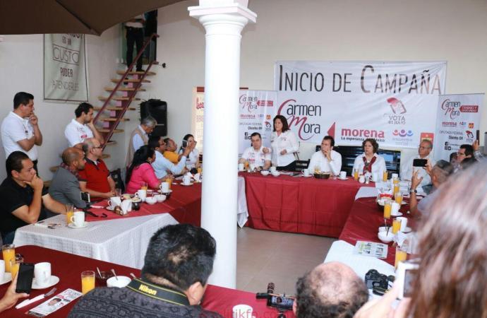 Me uno a esta Alianza por la gran transformación que encabeza Andrés Manuel López Obrador: Carmen Mora