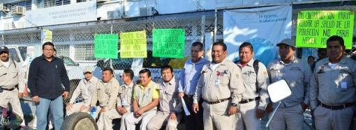 Se van a paro trabajadores de sección 71 de la Secretaría de Salud en los Tuxtlas
