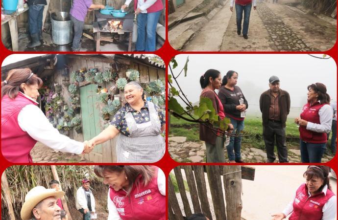 """Las comunidades no serán olvidadas, combatiremos las causas de la pobreza"""": Carmen Mora."""
