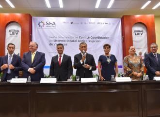 Instalan en el Congreso el Comité Coordinador del Sistema Estatal Anticorrupción