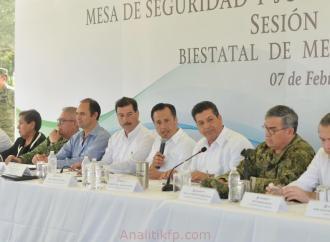 Veracruz y Tamaulipas trabajan coordinadamente para mejorar la seguridad