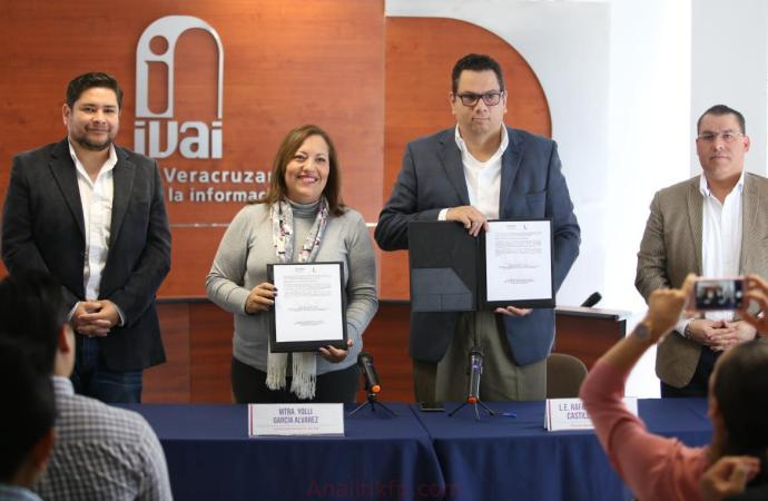 IVAI e Invedem impulsarán cultura de transparencia en municipios de Veracruz