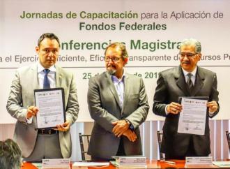 Firman SEFIPLAN y ORFIS convenio para transparentar uso de recursos federales