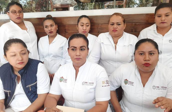 Trabajadores de Contrato del Hospital de Uxpanapa, respaldan el trabajo del Secretario de Salud, Ramos Alor
