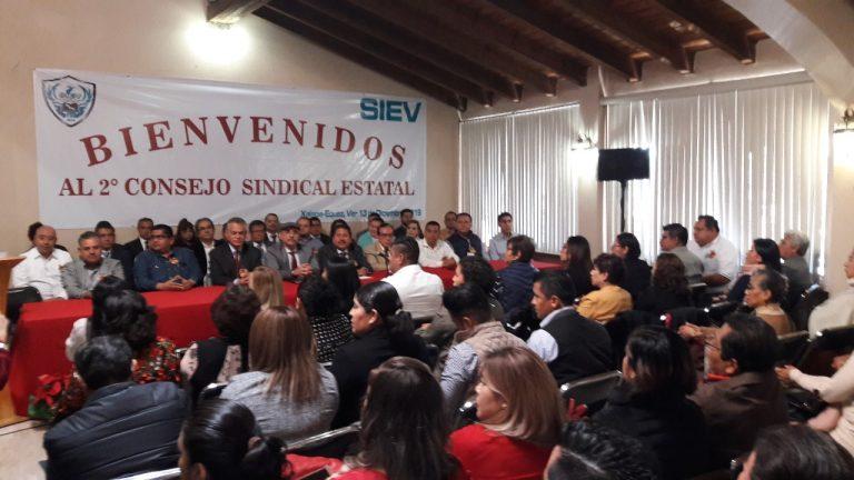 El Sindicato Integrador de la Educación en Veracruz, celebró su Segundo Consejo Sindical Estatal