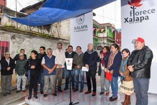 Más vialidades pavimentadas en Xalapa