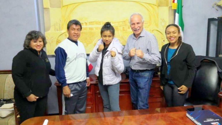 Boxeadora de Alamo en juegos CONADE 2020