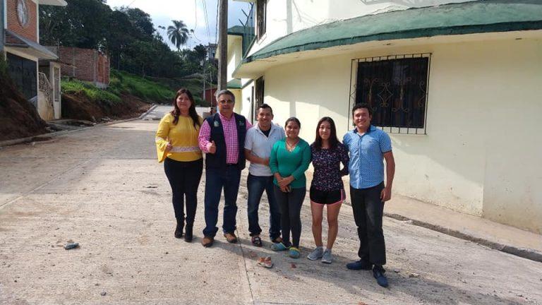 Importante avance de obra en el Circuito Tlampapa de la Cabecera Municipal de Teocelo