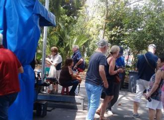 Italianos turistas en Coatepec