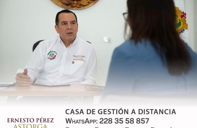 Senador Pérez Astorga apoya en contingencia