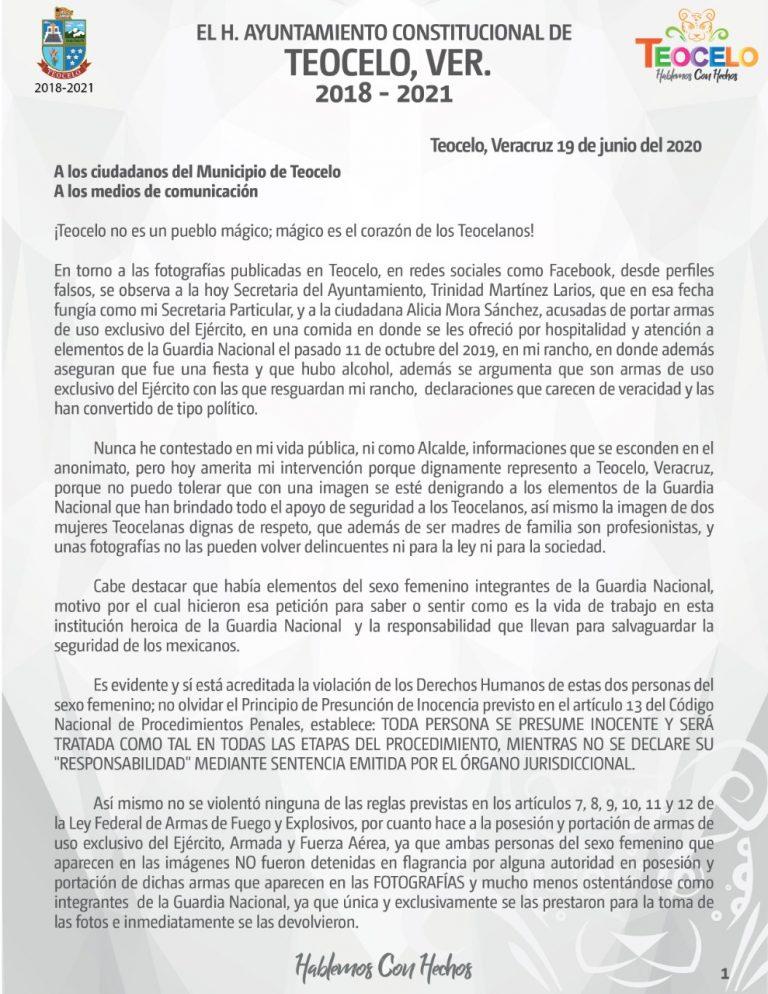 EL H. AYUNTAMIENTO CONSTITUCIONAL DE TEOCELO, VER. 2018 – 2021