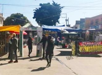 CONTINÚA LA IMPLEMENTACIÓN DE MEDIDAS SANITARIAS Y PREVENTIVAS EN EL TIANGUIS