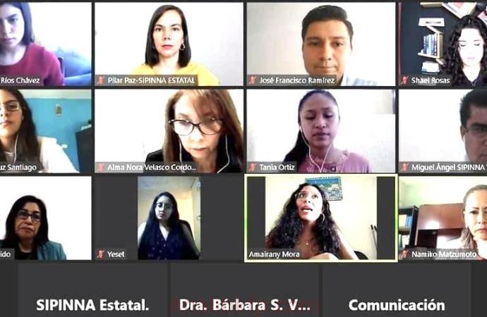 Reunión virtual de SIPINNA y CEDH-Veracruz