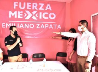 AQUILES MORENO TOMA PROTESTA COMO DIRIGENTE MUNICIPAL DE FUERZA POR MÉXICO