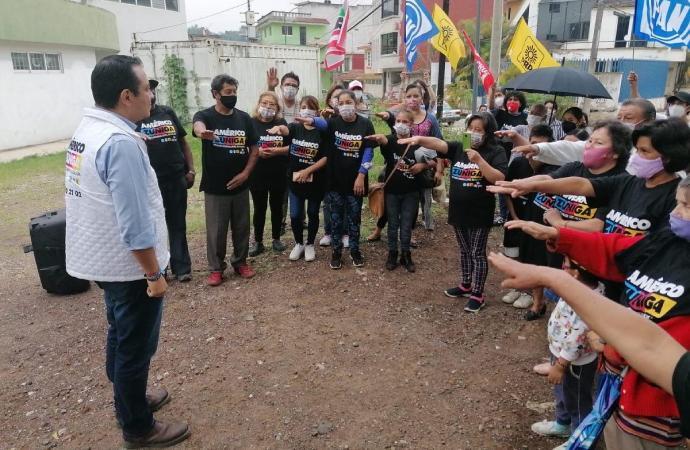 Rinden protesta promotores del voto a favor de Américo Zúñiga