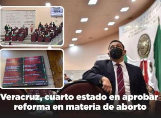 Veracruz, cuarto estado en aprobar reforma en materia de aborto