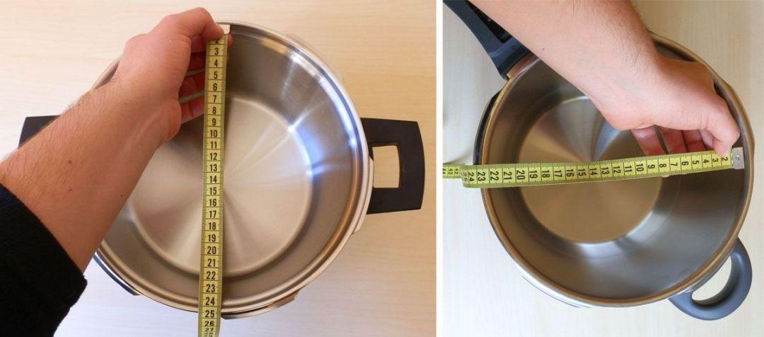 Diámetros de las ollas a presión