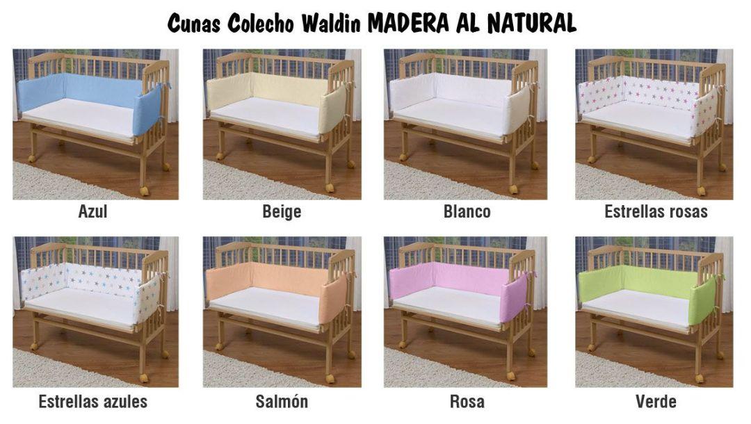 Cunas colecho Waldin en madera natural sin tratamiento