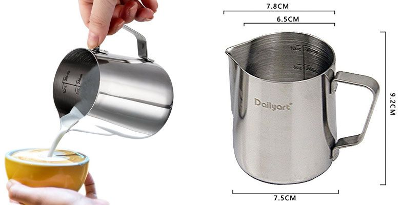 jarra de vaporizar leche Dailyart