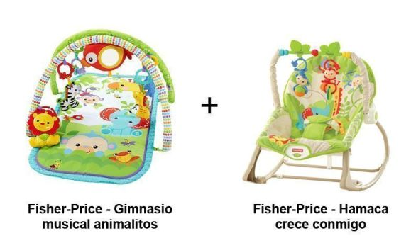 pack gimnasio bebe fisher price animalitos