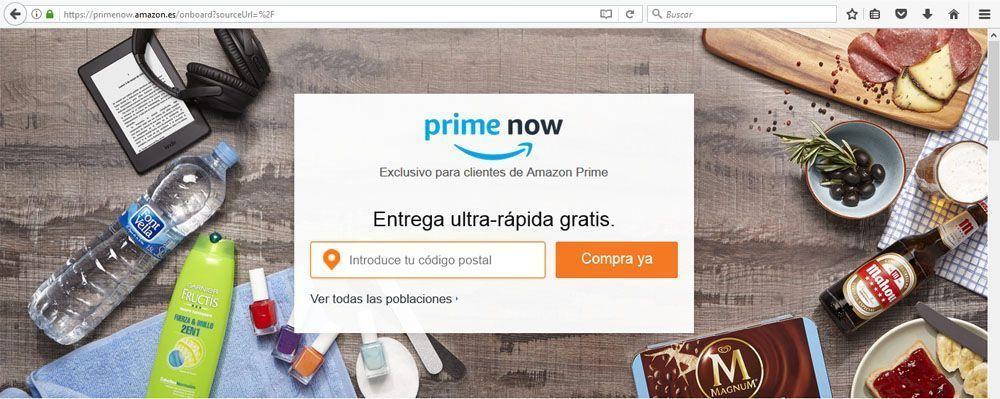 Prime Now de Amazon