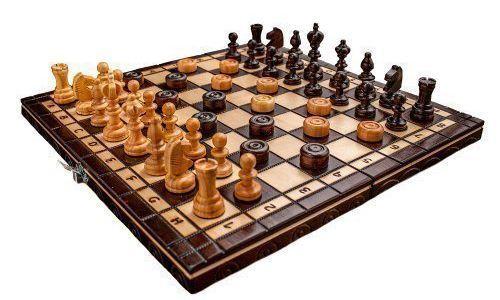 Comprar tablero de ajedrez y damas Woodeyland barato