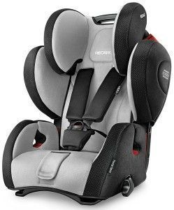 silla de coche 1 2 3 RECARO Young Sport Hero gris y negro